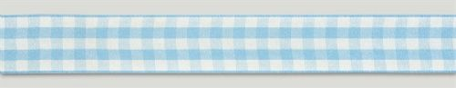 Blue Gingham Ribbon - 25mm